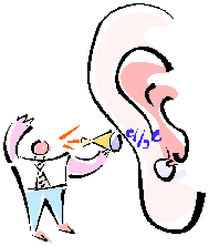 Talking into a Large Ear