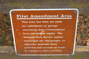 First Amendment Area