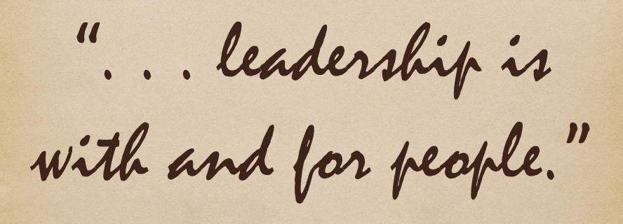 leadership is with and for people