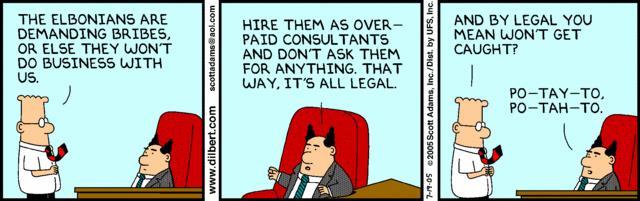 Tip or Bribe - Dilbert