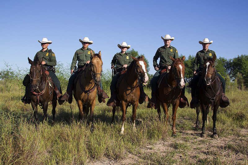 Customs and Border Patrol Agents on Horses