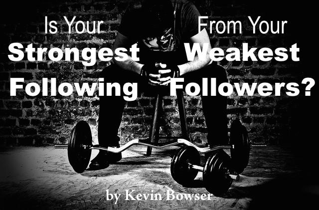 Strongest Following - Weakest Followers
